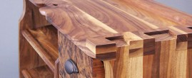 Detail of the extra-giant dovetails on the sides of the bench.