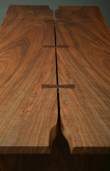 These slabs of bookmatched claro walnut have a lot of color.