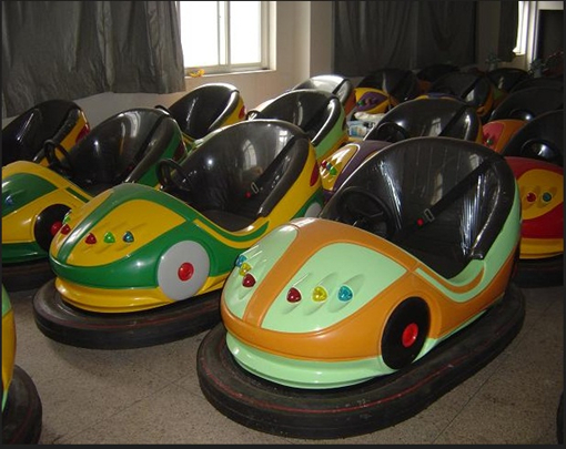Battery bumper cars in our factory