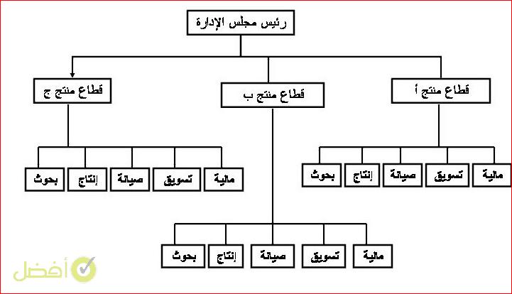 الهيكل القطاعي نموذج هيكل تنظيمي لشركة تجارية doc