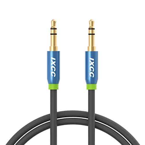 iXCC 3-ft Tangle-Free Cable سلك aux للسيارة