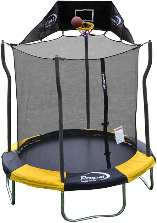Propel Trampolines 7-Feet Round Trampoline with Enclosure