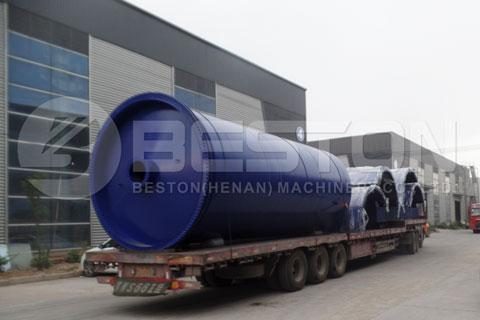 Beston Tire Pyrolysis Machine Shipped to South Korea