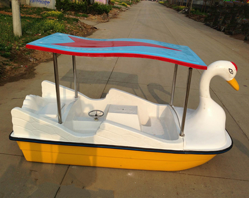 Amusement park 4 seater swan paddle boat