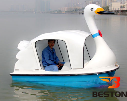 Water amusement ride swan paddle boat for sale with 2 seats