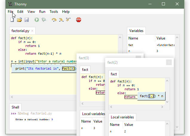 thonny ide screenshot