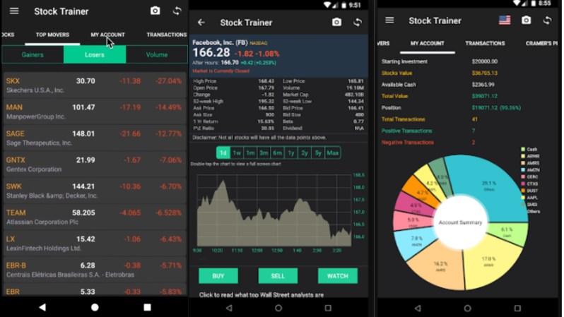 Stock Trainer Virtual Trading app