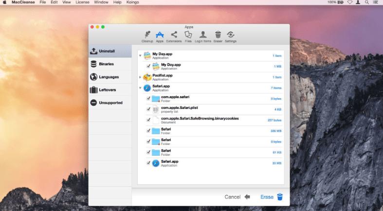 MacCleanse mac cleaner