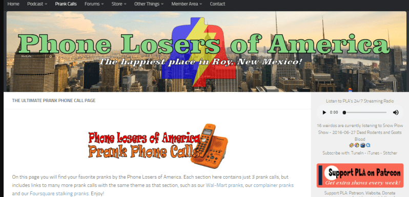 phone losers of america site