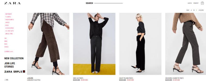 zara site for womens clothing