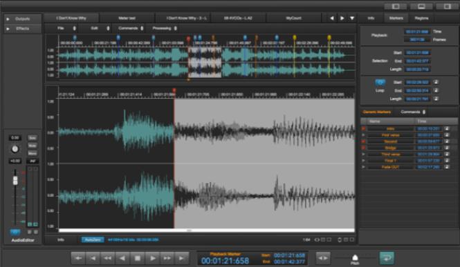 DSP-Quattro audio editor