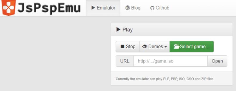 JsPspEmu emulator