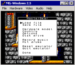 MasterGear emulator