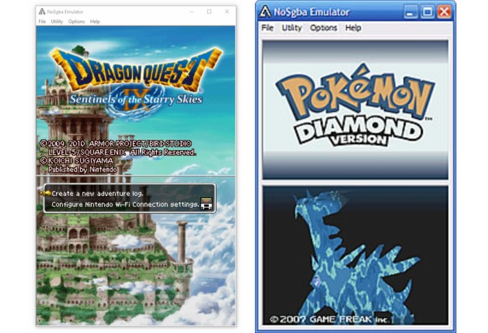 NO$GBA emulator 3ds