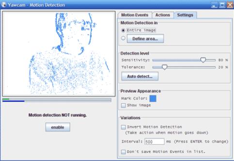 yawcam software as free webcam soft