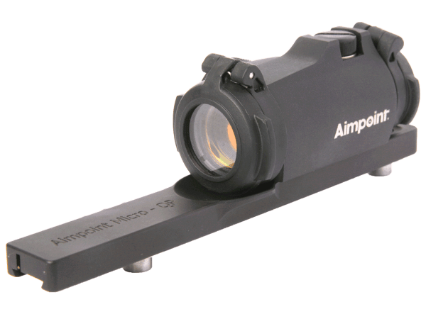 Aimpoint� Micro H-2 with a factory installed rail mount for Leupold QR