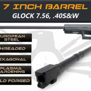 "Glock Gen 5 Barrels 7.5"" Made By IGB Austria - Match Grade Hexagonal Profile 7.5"" Threaded Barrel For 7.65 & .40s&W"