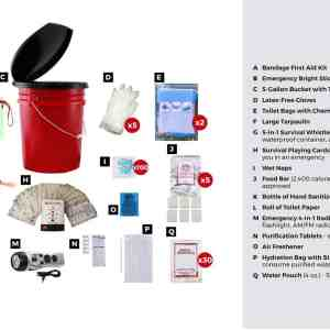 Deluxe Classroom Lockdown Kit bucket
