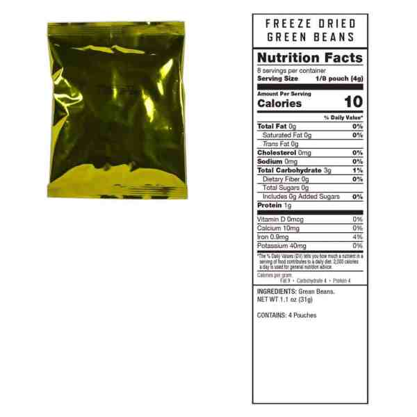 4 pouches of Green Beans (8 servings ea.)