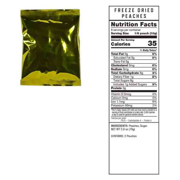 2 pouches of Peaches (8 servings ea.)
