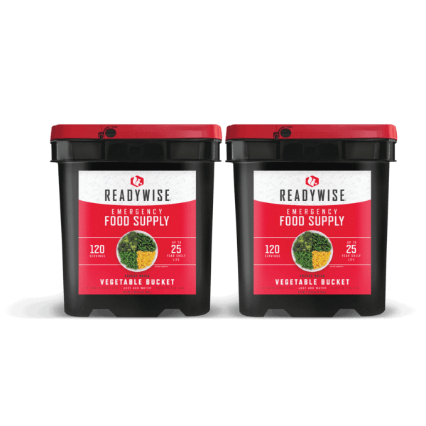 240 Servings of Freeze Dried Vegetables - 2 Buckets