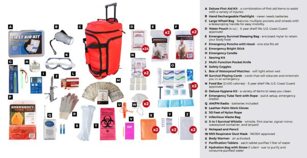 wheel bag elite survival kit 72 hours