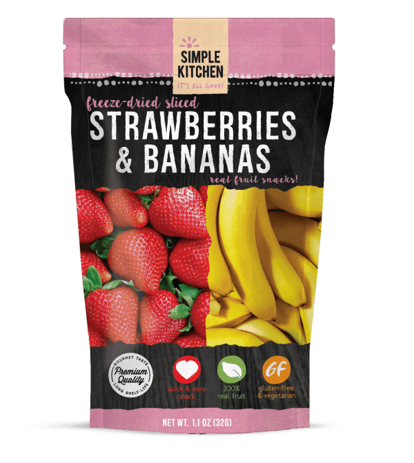Strawberries & Bananas 4 Serving Pouch