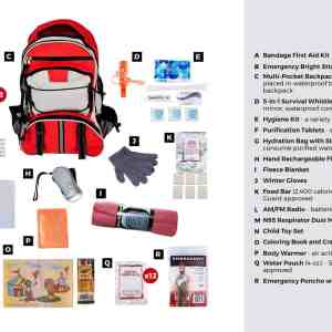 Survival Kit for Children (72+ Hours) bug out bag