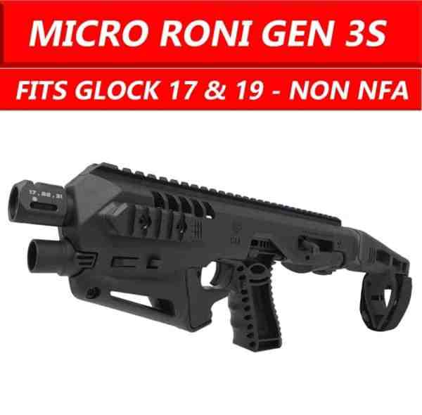 11BS- Micro Roni Stab Gen 3 S CAA Gearup Roni Micro Extended Stabilizer For Glock 17 & 19 Gen 3 & 4