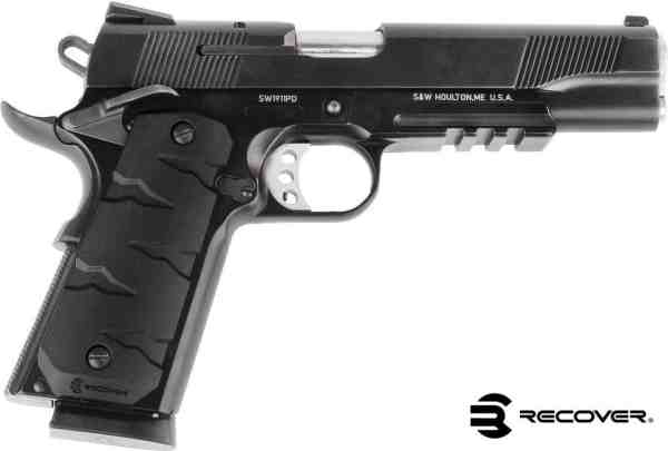 Recover Tactical - RG11 BLACK QUICK CHANGE 1911 RUBBER GRIPS T-REX