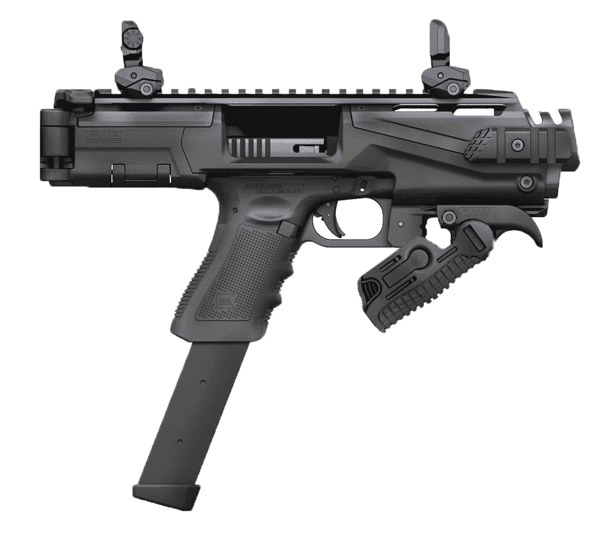 ZFI PDW Ultimate Truck Gun - NON NFA KPOS Scout w/ folding angled foregrip & safety