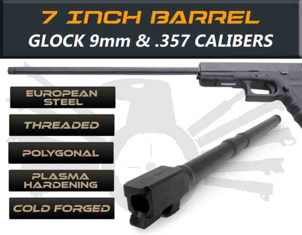 "Glock 17L 9mm caliber - 7.5"" Threaded Barrel"