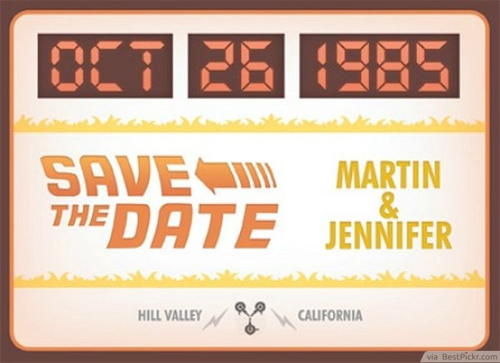 Fun Back To The Future Themed Wedding Invitations Bestpickr