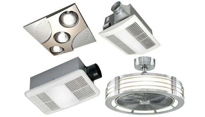 ceiling bathroom exhaust fan heater 80 cfm bath ventilation quiet thermostat air