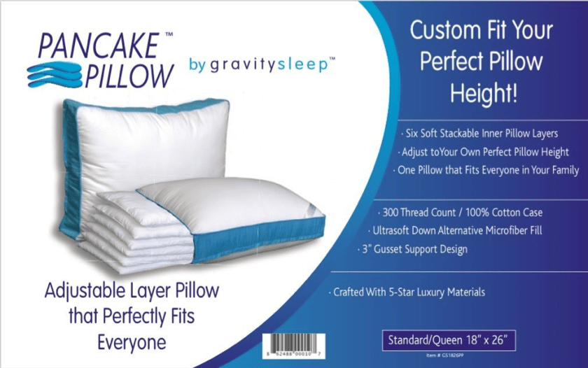 The Pancake Pillow Features