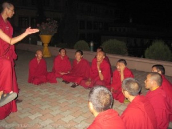 Buddhist monks in training at the Chauntra monastery.