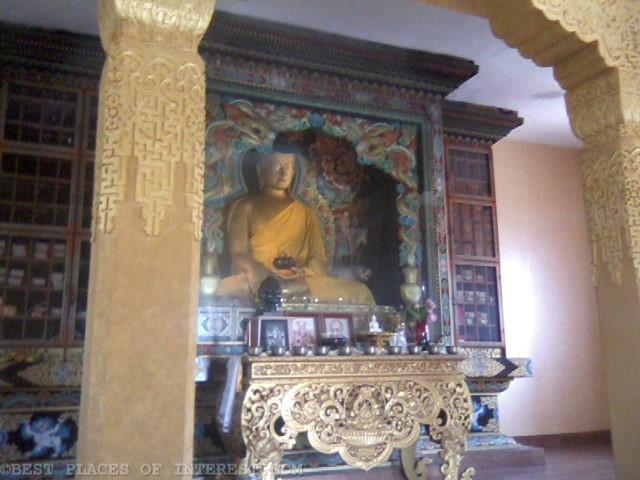 Buddha hall inside the monastery