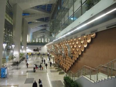 Inside Terminal 3 at Indira Gandhi international airport