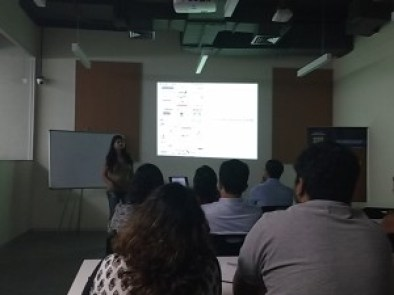 Travel workshop in progress with Ansoo Gupta