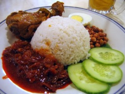 Nasi Lemak - Cooking details while preparing this dish