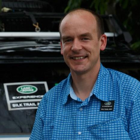 #travelblogger Paul Johnson on a land rover trip