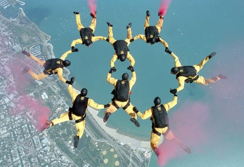 one love of the skydiving team