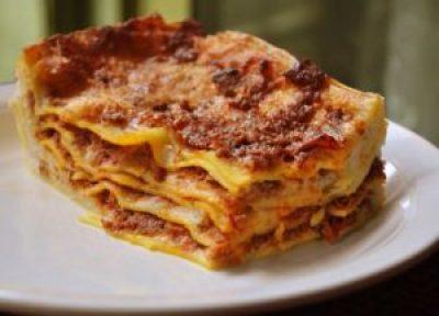 lasagne for Christmas dinner