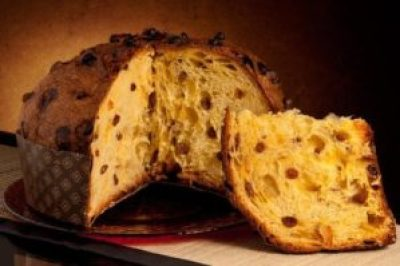 panettone for desserts on Christmas dinner