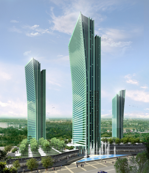 Emerald towers, Kazakhstan