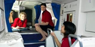 Flight attendants secret rooms on long haul flights