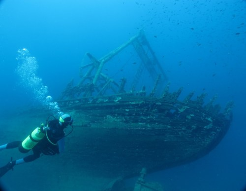 Ship Wrech Croatia, adventurous activities