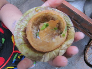 Puchka or golgappa in Kolkata, Calcutta