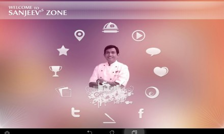 At the launch of Sanjeev Kapoor App