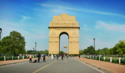 India Gate in Delhi, patriotic places of India